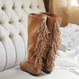 Vintage Fringe Boots: Alternate View #1