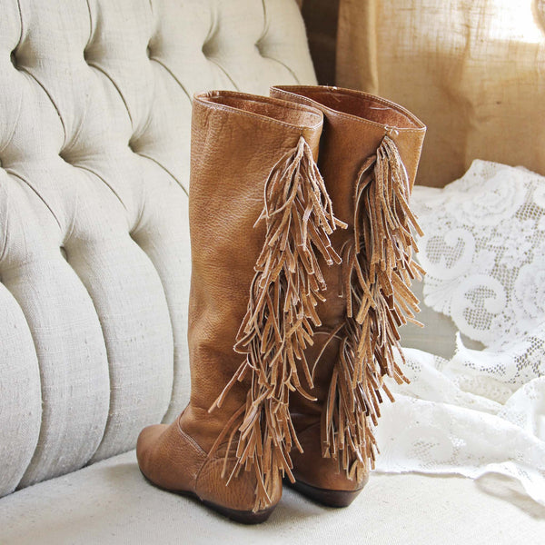 Vintage Fringe Boots: Featured Product Image
