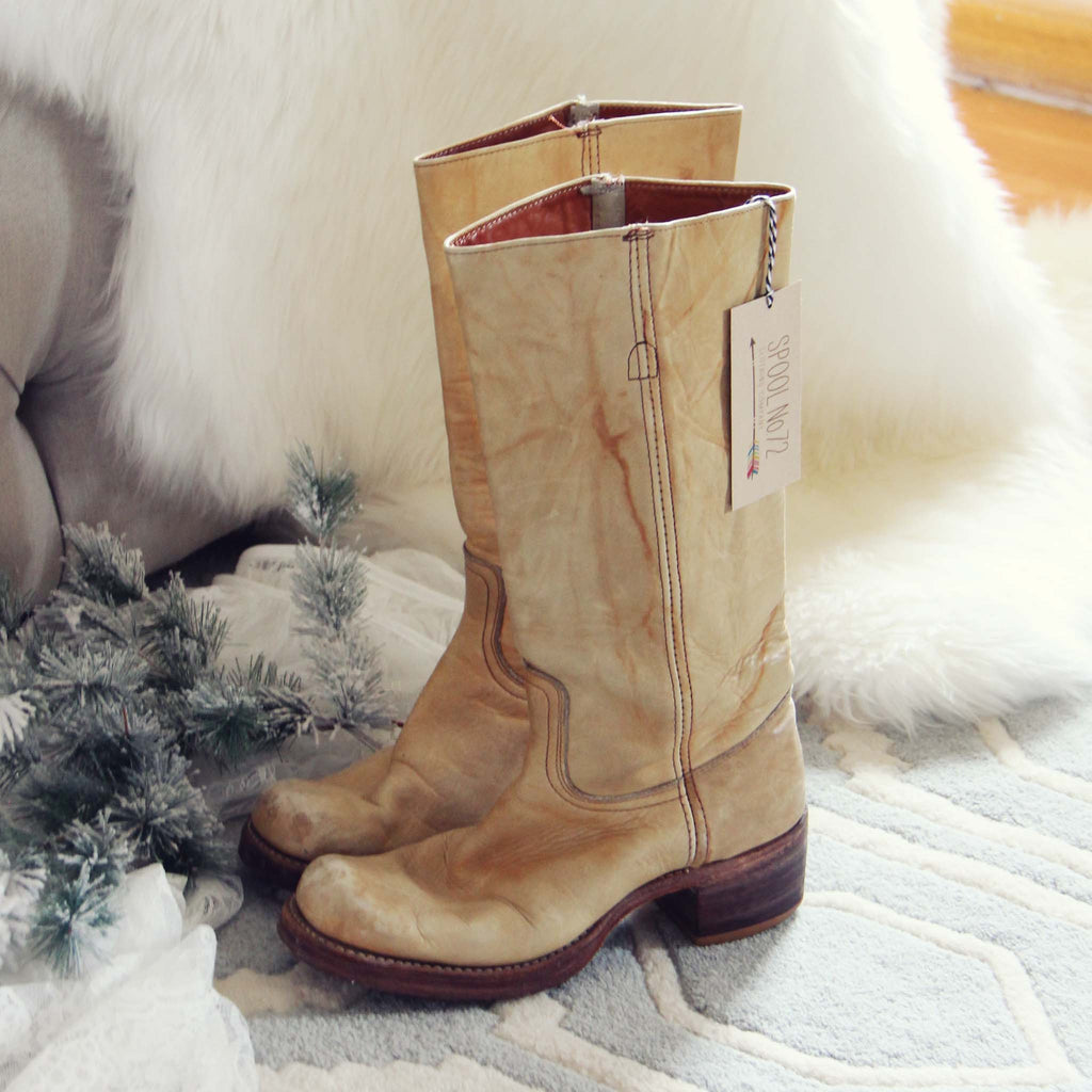 dc1c48a124db0 Vintage 70's Frye Campus Boots, Rugged Vintage Leather Boots from ...