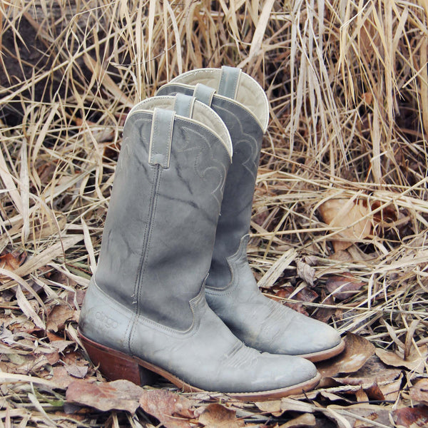 Vintage Gray Dingo Boots: Featured Product Image