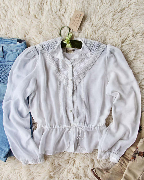 Vintage 70's Gunne Sax Romantic Blouse: Featured Product Image