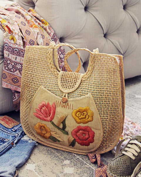 Vintage Floral Hawaii 60's Tote: Featured Product Image