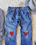 Vintage Heart Levi's: Alternate View #2