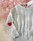 Vintage Heathered Heart Sweater: Alternate View #2