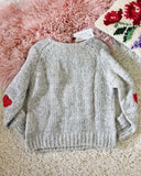 Vintage Heathered Heart Sweater: Alternate View #3