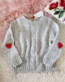 Vintage Heathered Heart Sweater: Alternate View #1