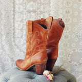 Vintage Honey Stitch Boots: Alternate View #3