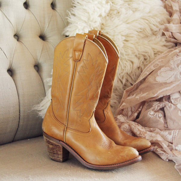Vintage Honey Stitch Boots: Featured Product Image