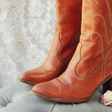 Vintage Honey Stitch Boots: Alternate View #2