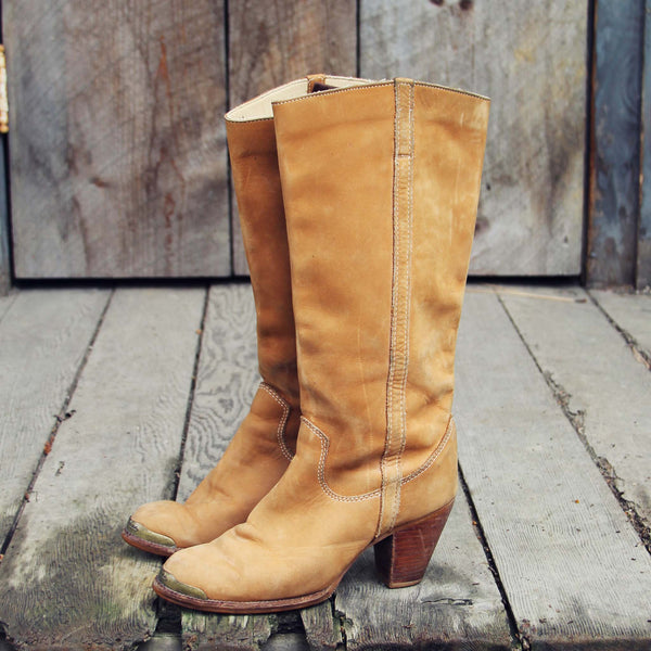 Vintage Honey Zodiac Boots: Featured Product Image