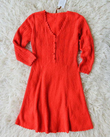 Vintage Sweetheart Knit Sweater Dress