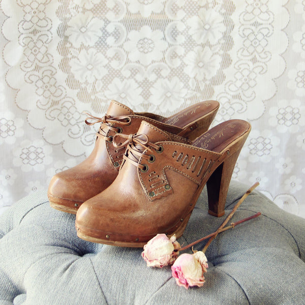 Vintage 70's Lace-up Platforms: Featured Product Image