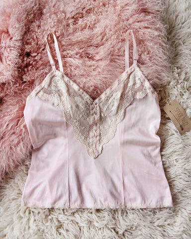 Vintage Pink Lace Cami