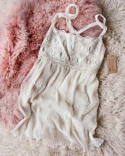 Vintage Lace & Pleats Cami: Featured Product Image