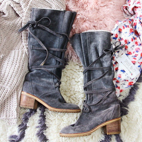 Vintage 70's Lace-up Boots