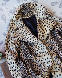 Vintage 60's Leopard Coat: Alternate View #2