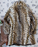 Vintage 60's Leopard Coat: Alternate View #4