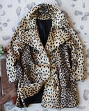 Vintage 60's Leopard Coat: Alternate View #1