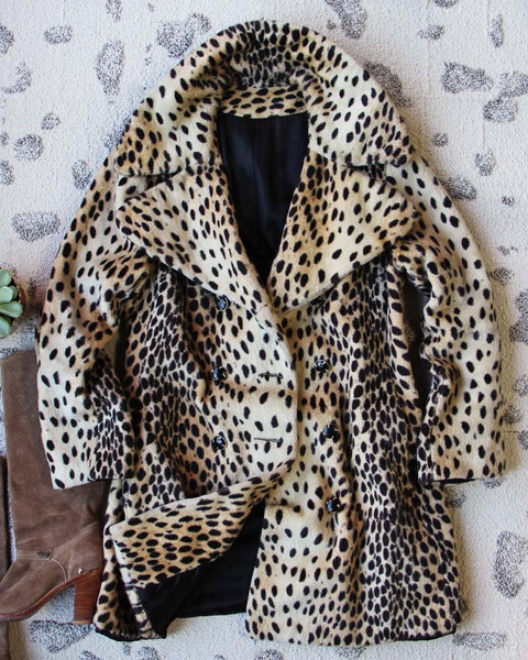 Vintage 60's Leopard Coat: Featured Product Image