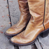 Vintage Taupe Stitch Boots: Alternate View #3