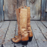 Vintage Taupe Stitch Boots: Alternate View #5