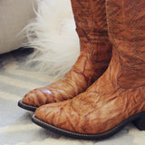 Vintage Marbled Cowboy Boots: Alternate View #2