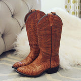 Vintage Marbled Cowboy Boots: Alternate View #5
