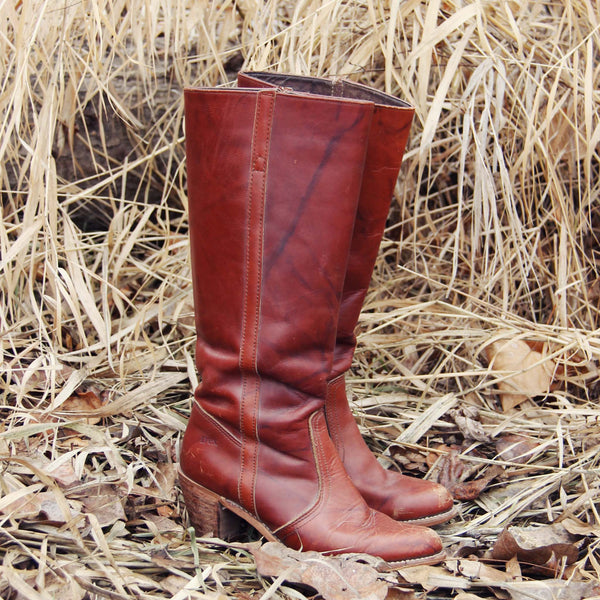 Vintage Dex Marbled Boots: Featured Product Image