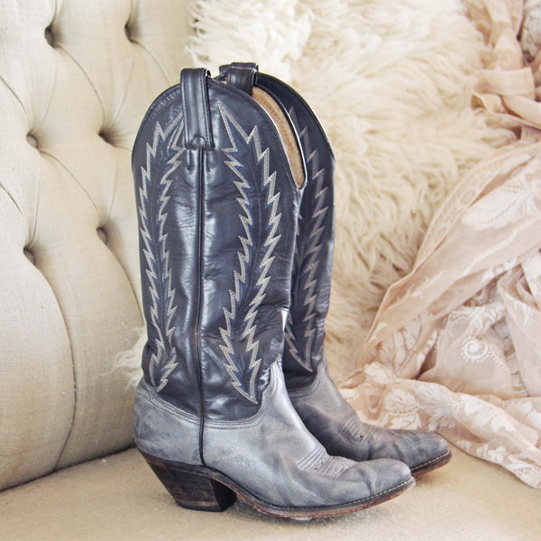 Vintage Midnight Stitch Boots: Featured Product Image