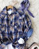 Sweet Plaid + Patch Vintage Shirt: Alternate View #2