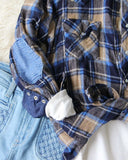 Sweet Plaid + Patch Vintage Shirt: Alternate View #3