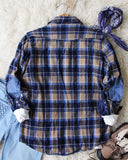 Sweet Plaid + Patch Vintage Shirt: Alternate View #4