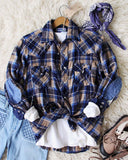 Sweet Plaid + Patch Vintage Shirt: Alternate View #1
