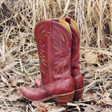 Vintage Feather Stitch Boots: Alternate View #3
