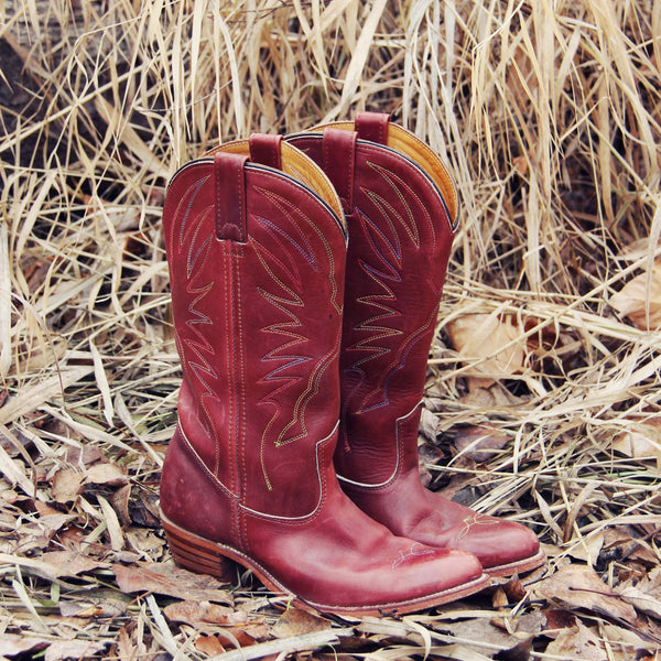 Vintage Feather Stitch Boots: Featured Product Image