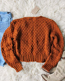 Vintage 70's Rust Nubby Knit Sweater: Alternate View #3