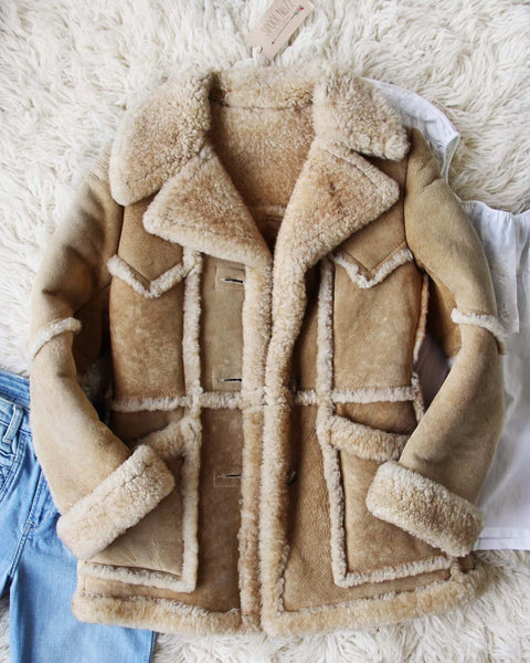 Vintage 70's Shearling Cozy Coat: Featured Product Image