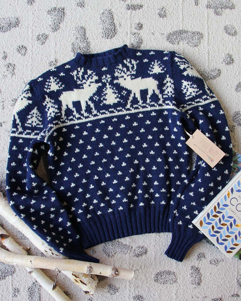 Vintage Sleepy Forest Sweater: Featured Product Image