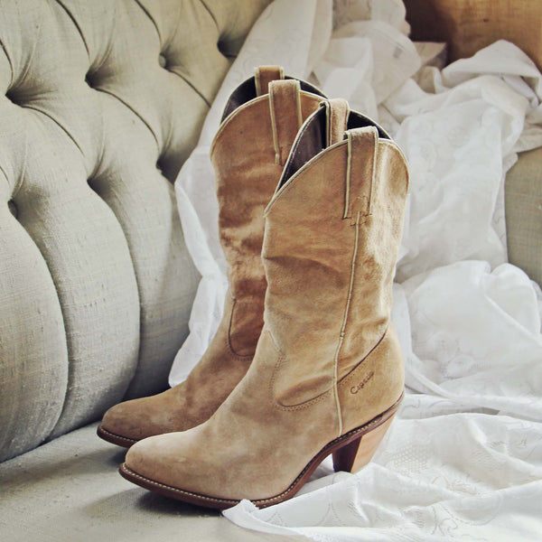 Vintage Sand Capezio Boots: Featured Product Image