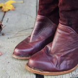 Vintage Burgundy Zodiac Boots: Alternate View #2