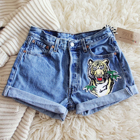 Vintage Cuffed Tiger Shorts