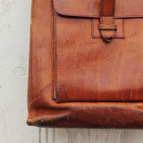 Vintage 70's Leather Tote: Alternate View #2