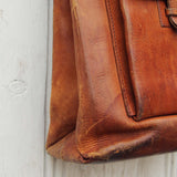 Vintage 70's Leather Tote: Alternate View #3