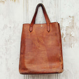 Vintage 70's Leather Tote: Alternate View #4