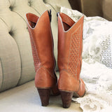 Vintage Woven Honey Boots: Alternate View #2