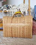 Vintage 70's Woven Tote: Alternate View #3