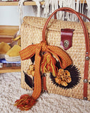 Vintage 70's Woven Tote in Sand: Alternate View #2