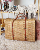 Vintage 70's Woven Tote in Sand: Alternate View #3
