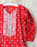 Vintage Indian Block Print Tunic: Alternate View #1