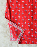 Vintage Indian Block Print Tunic: Alternate View #2